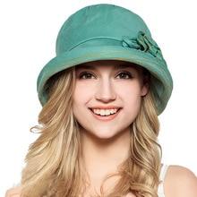 f754aaee366 FS 100% Cotton Summer Beach Woman Foldable Visor Caps Wide Brim UV Protect Sun  Hats