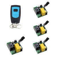 Hot Sale Mini AC220V RF Wireless Remote Control Switch System Transmitter And Learning Code Receiver For