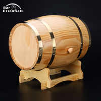 1.5L beer brewing keg Vintage Wood Oak Timber Wine Barrel for Whiskey Rum Port Decorative Barrel Keg Hotel Restaurant Display
