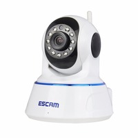 QF002 HD 720P Color White Wirless Wifi CCTV IP Camera Built In Mic Support IOS