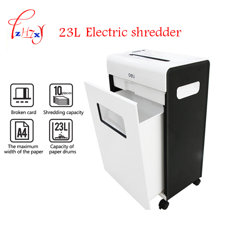 Автоматический Электрический измельчитель бумаги Mute file grinder Destroy Document file 23L большой бытовой o-ffice file shredder 3*15 мм