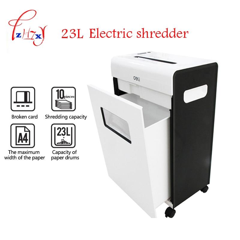 Automatic Electric Paper shredder Mute file grinder Destroy Document Files 23L large household o-ffice file shredder 3*15mm