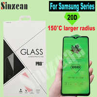 50pcs For Samsung J4 Plus/J6 2018/A8 Plus 2018/A9 2019/A20E/J600 20D Full Cover Tempered Glass large radian screen protector