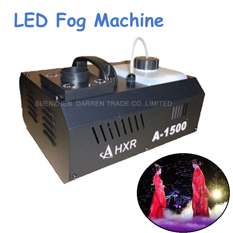 1pc 1500W LED Fog Machine Pyro Vertical Smoke Machine Professional Fogger For Stage Effect Equipment