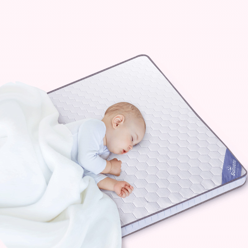 SUNVENO Newborn Baby Mattresses Comfortable soft Fabrics high quality Baby Mattresses Breathable high polymer Lining120x60cm цена