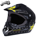 Motocicleta Cascos Motocross Dirt Bike Racing Off Road Casco de Moto Transpirable Máscara con Bloqueo Ajustable de La Hebilla S M L XL