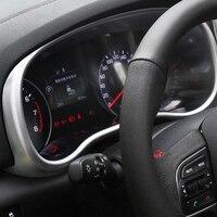 For KIA Sportage KX5 2016 2017 2018 Car Styling Interior Dashboard Instrument Panel Screen Frame Cover Trim Decoration Sticker