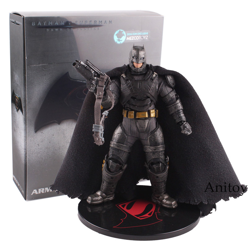 DC Comics Ation Figure Batman V Superman Dawn of Justice Armored Batman Action Figure Lighting Eyes Toy 17cm брелок dc comics batman logo