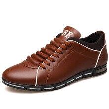 בתוספת גודל 37 48 מותג גברים נעלי אנגליה מגמה מזדמן פנאי נעלי עור נעליים לנשימה לזכר Footear ופרס גברים של דירות