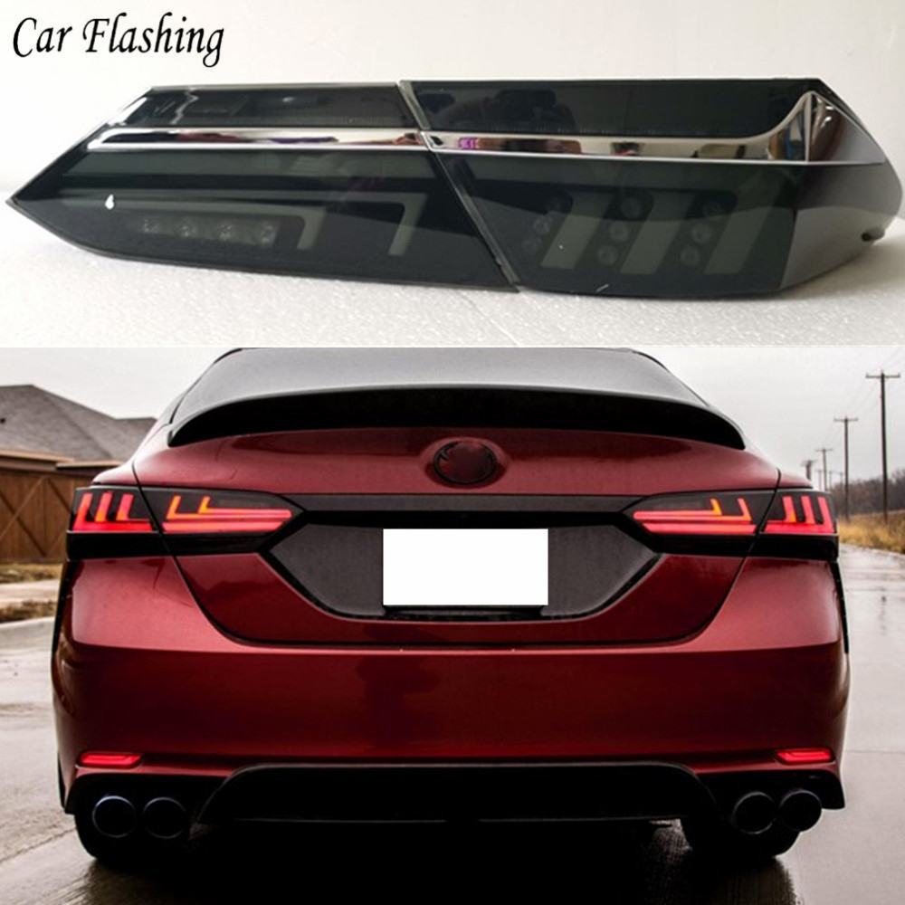 Car Flashing 1Set For Toyota Camry 2018 Brake Reverse  Lamp Taillight LED Taillight Tail Light Assembly Lamp Rear Parking Light
