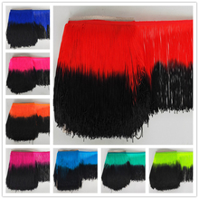 YOYUE 10Yards/lot 20cm Wide Lace Fringe Trim Tassel Trimming For DIY Latin Dress Stage Clothes Accessories Ribbon