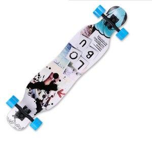 Image 5 - Профессиональный Скейтборд Полный клен лонгборд скейт доска 4 колеса горные уличные длинные доски танцевальная доска роликовый скейтборд