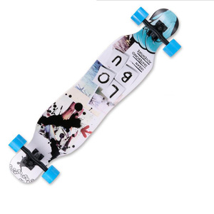 Image 5 - 전문 스케이트 보드 완료 메이플 longboard 스케이트 보드 4 휠 내리막 거리 긴 보드 댄스 보드 롤러 driftboard