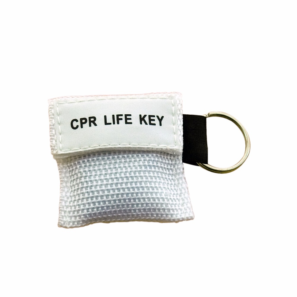 100Pcs CPR Resuscitator Mask CPR Life Key Emergency Face Shield White Color Bag With Keychain Ring Health Care Accessories stylish 100 pcs bag docile pure cotton compressed mask paper