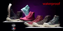 Free Shipping 2016 7 Color Palladium Boots Waterproof Shoes For Women Men Ankle Boot Fashion Martins Shoes Size36-45
