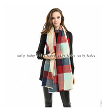Fashion 2015 pashmina winter Stylish Women Men Lady Long Soft Tartan Plaid Wrap Shawl Stole Warm Winter Scarf
