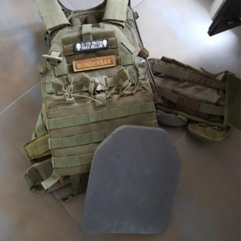 2pcs Tactical Soldier Gear EVA Body Carrier Vests SAPI Shock Plate Airsoft Wargame Dummy Foam Hunting Vest 2cm Armor Plates