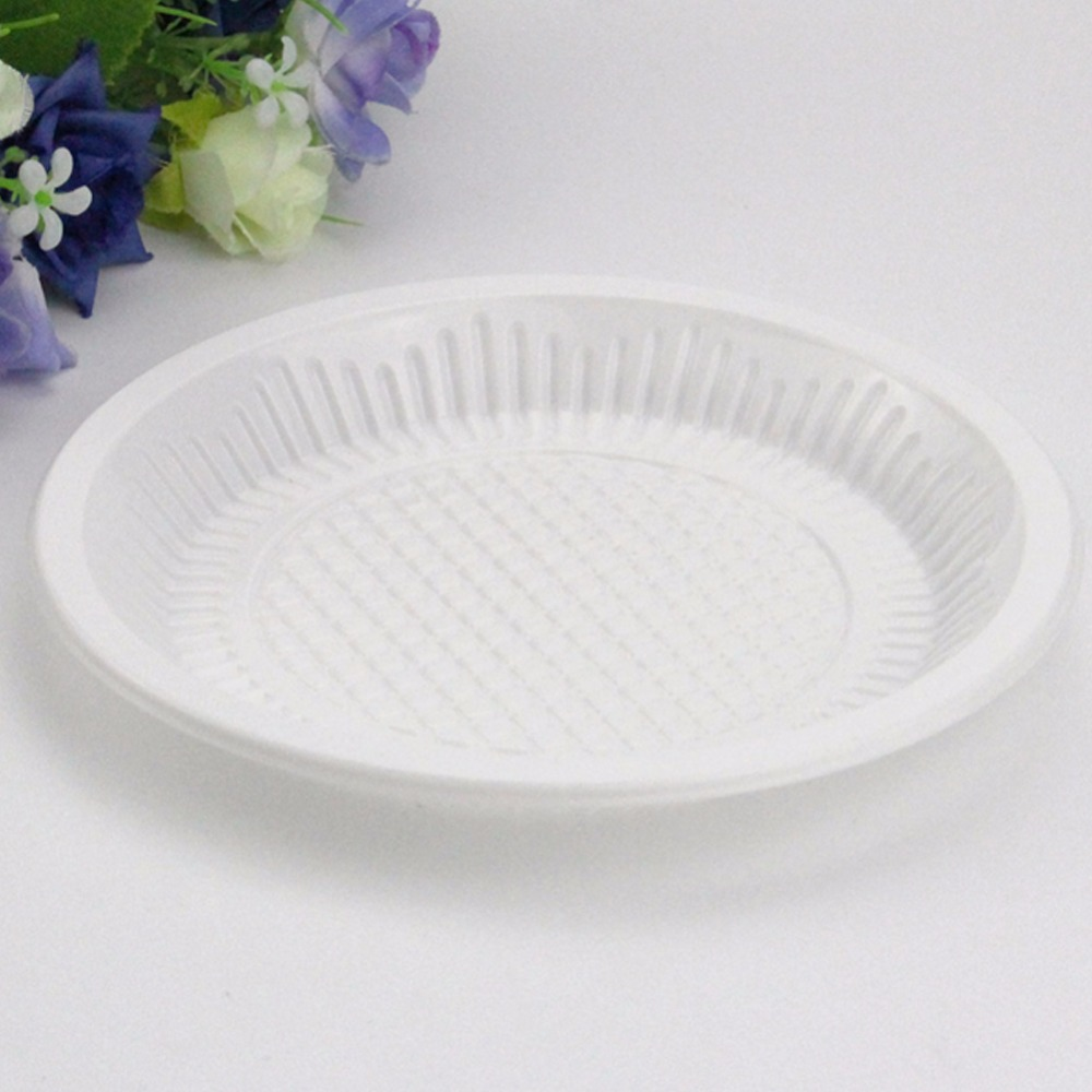 10pclot disposable plastic cake dishes plates porcelain pastry fruit tray environmental protection for party & the simcha and heritage collection. hammered collection party ...