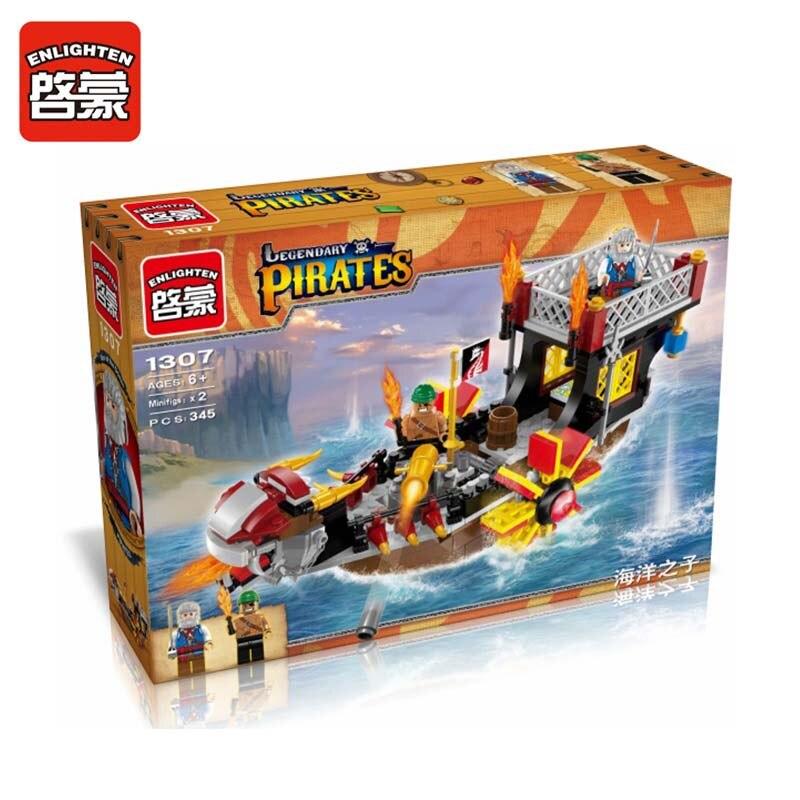 ENLIGHTEN 345PCS Pirate Series Son of the Sea Model Building Blocks Sets Model Educational DIY Assembling Bricks Kids Toy Gifts