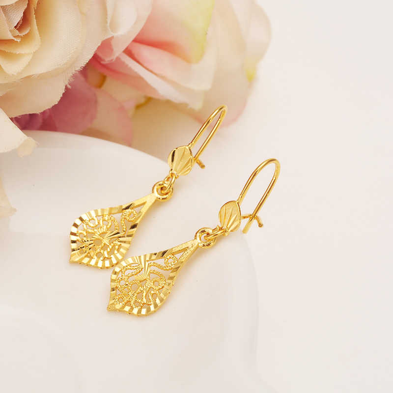 Brand Design Fashion Elegant Classic Punk Gold Color Spiral Pendant Drop Earrings Jewelry For Women Wholesale girls charms gift