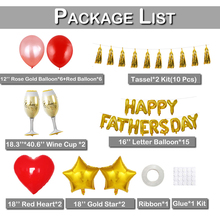 цена Father Day Day Balloon Kit Tassels Party Decoration Foil Balloons Latex Balloon Hoop Set Dad Love You Happy Fathers Day D20 онлайн в 2017 году