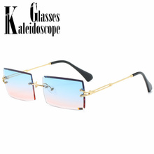 Small Rimless Sunglasses Women Vintage Summer Style Design G