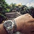Punk rock moda vintage titanium dos homens manguito pulseira pulseira de aço inoxidável charme cuff pulseiras jóias pulseiras carta