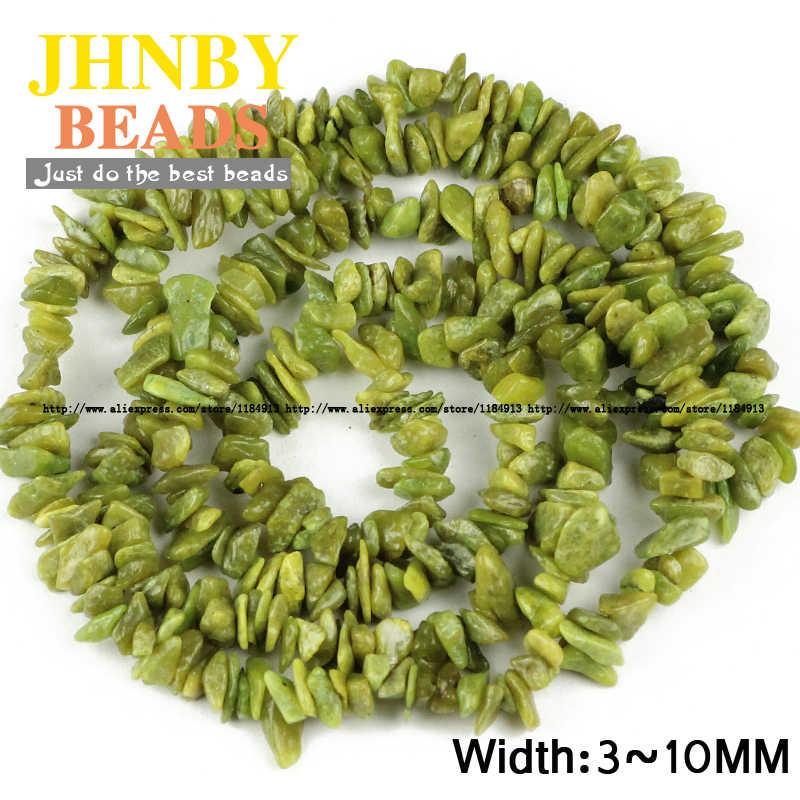 JHNBY Chuncheon אבן חצץ סדיר חרוזים באיכות גבוהה טבעי אבן 87cm גדיל שבבי חרוזים תכשיטי צמיד ביצוע DIY