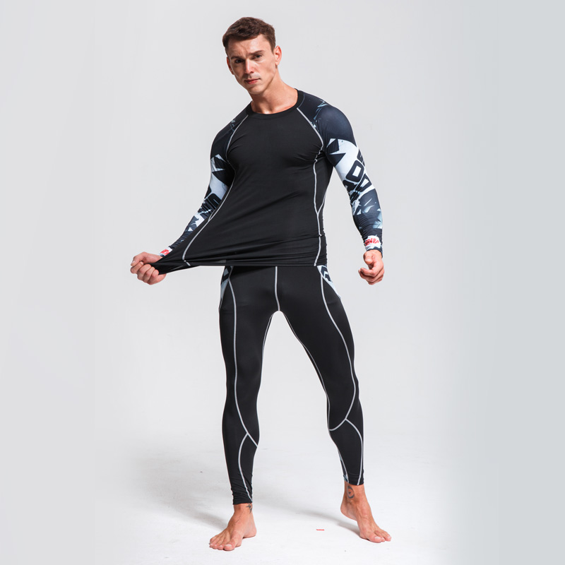 Men's Sports Suit Compression Clothing Fitness MMA Tactics Rashgard Male Quick Drying Jogging Suit Thermal Underwear Brand Men