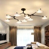 Italy Sharp Alloy Chandelier minimalist bedroom living room lamp designer model room creative disc Chandelier