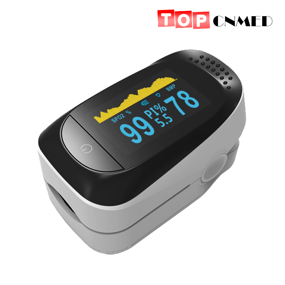 Finger Tip Pulse Oximeter SpO2 Blood Oxygen Meter PI 8 Hours