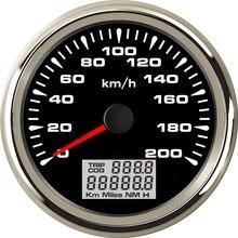 85mm Universal Auto Marine GPS Speedometer Velometer 0 200KM/H Speed Odometer Mileage 9 32V With Backlight