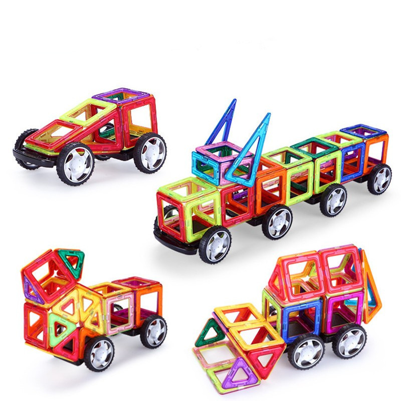 36Pcs Magformers Models Building Toys Creator Educational Building Magnetic Blocks Bricks For kids Toys Gifts mini 136pcs set magnetic construction magformers models building blocks toys diy 3d magnetic bricks kids toys