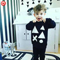 1-4Y Toddler Kids Knitted Christmas Cotton Sweater For Boys Infant Baby Geometric Pattern Crocheted Cardigan Clothes For Girls