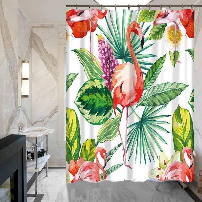 Koupelna Hotel Animal Flamingo Série sprchových závěsů nezmizí polyesterová nepromokavá záclonová sprcha velkoobchodní vysoká kvalita