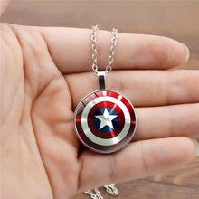 Novo super-herói capitão américa cosplay acessórios steve rogers escudo redondo pingente chaveiro jóias colar chaveiro