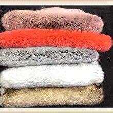 /настоящий мех кролика Рекс/кожаный мех для одежды/цветной настоящий кроличий мех/меховой воротник может быть выполнен по индивидуальному заказу