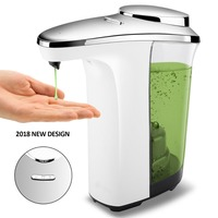 480ml automatic plastic electric contactless touchless auto hand liquid soap dispenser pump bottle for kitchen bathroom
