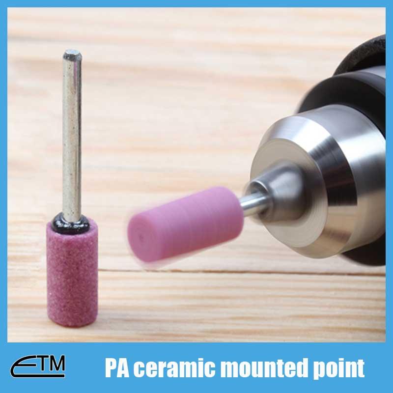 50 piezas de cilindro de punta montada de óxido de aluminio rosa - Herramientas abrasivas - foto 4