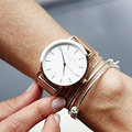 2017 hot sale Famosa Marca de Prata Clássico Relógio De Quartzo Das Mulheres Relógios de ouro de Aço Inoxidável de Malha de Metal femme reloj mujer Relógio