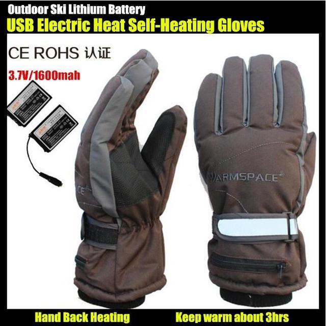 G115C 3.7 V/2000 mAh usb batería de litio auto calefacción eléctrica guantes de Esquí Deporte Al Aire Libre, guantes de Mano volver Climatizada alrededor de $ number horas