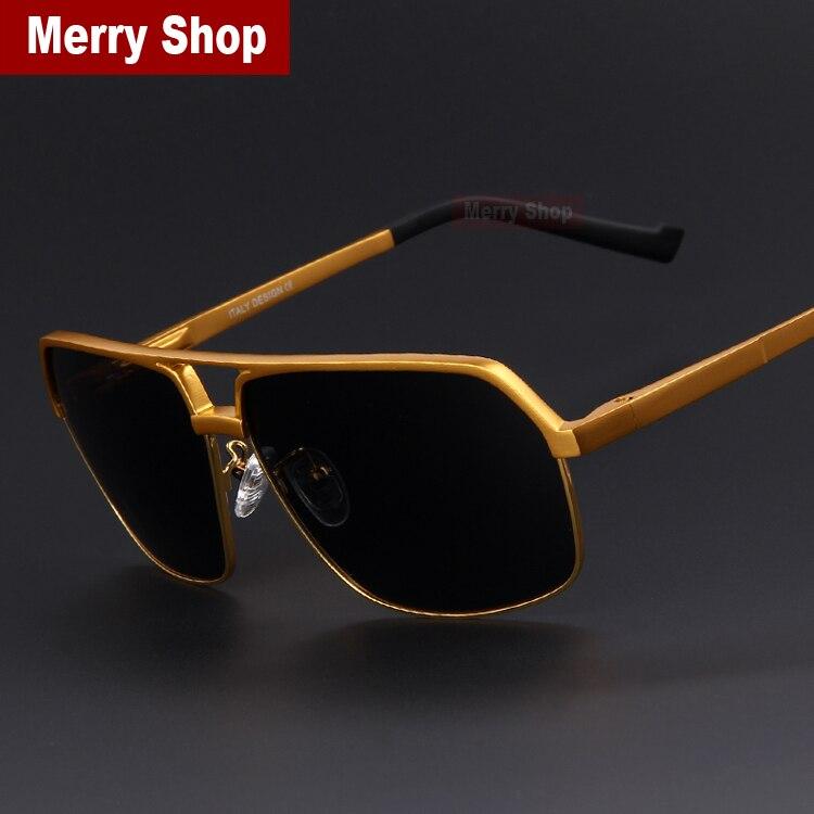 MERRYSTORE Männer Marke Ultraleicht Goldrahmen Polar Sonnenbrille ...