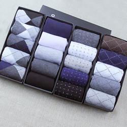 Для мужчин зимние осенние носки высокого качества плед подарочной коробке Для Мужчин's Носки бизнес случайный чистые хлопковые дышащие