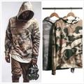 Kpop Roupas 2016 New Arrivals Camouflage Pattern Justin Bieber Estilo Militar Camo Hoodies Em Camadas Frete Grátis
