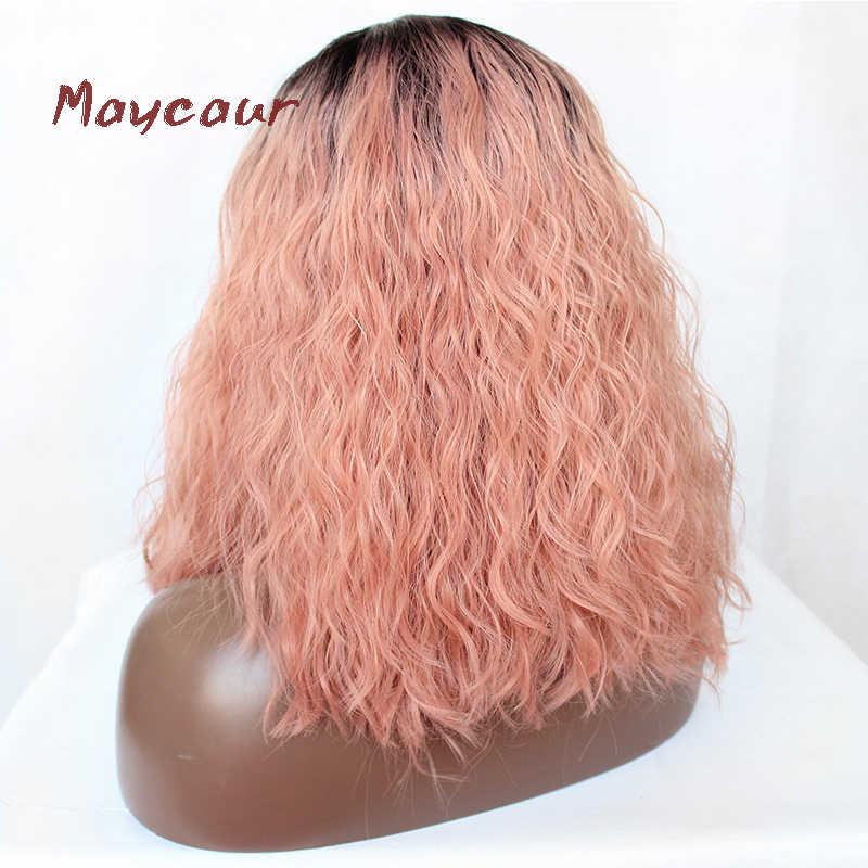 Парики из натуральных волос на кружевной основе окантовка переда бесклеевым кружевом 130% плотность волнистые парики черный