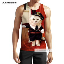 Jumeast Brand New 3d Printed Funny Animals Men/Women Tank Tops Lovely Elk Cat Chimpanzee Tee Sleeveless Unisex Cute Dolphin Frog