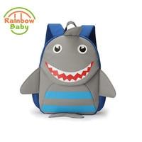 Rainbow Baby Cut Shark Kids Babys Bags Anti Lost School Bags For 2 8 Years Boys