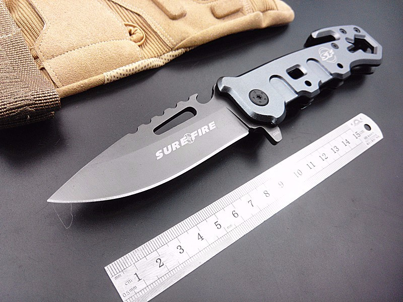 Hot! utility outdoor survival folding knife SF rescue camping knife tactical knives pocket hand multi functional tool 440c blade