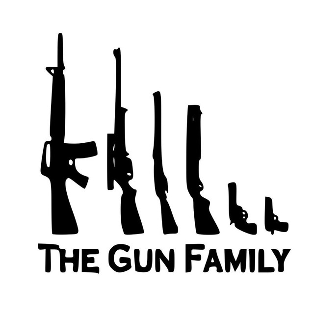 THE GUN FAMILY Car Sticker Decal Automobile Styling Motorcycle Decoration