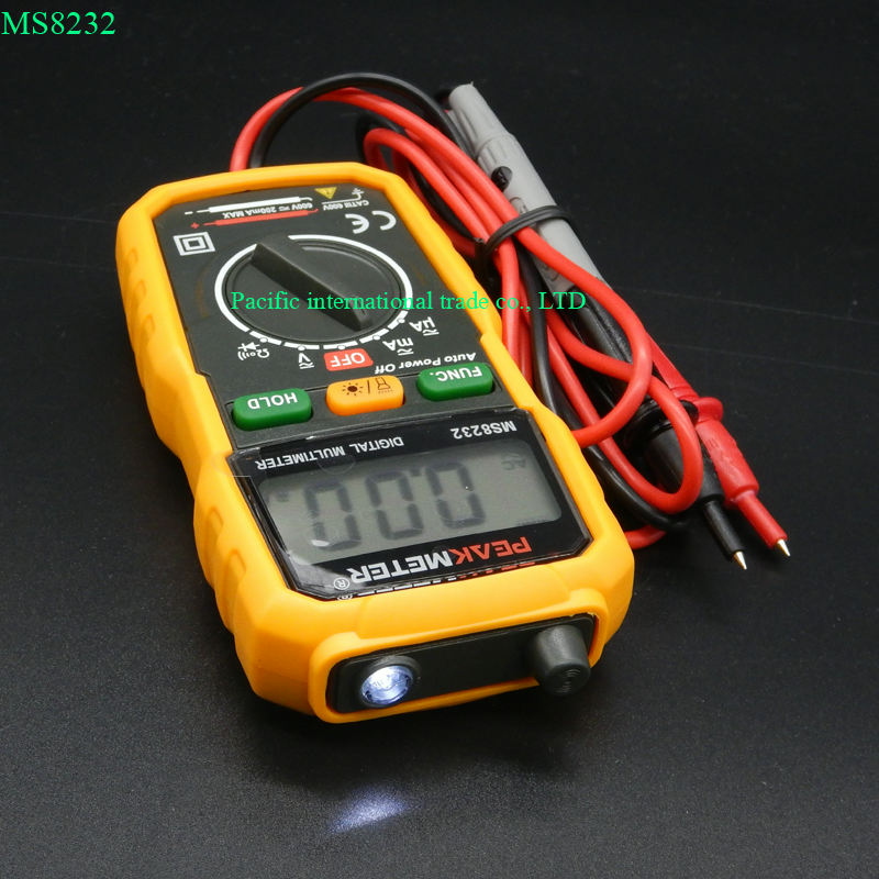 Non Contact Mini Digital font b Multimeter b font DC AC Voltage Current Tester HYELEC MS8232